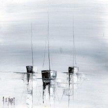 Les 3 mâts gris _ ALBERT LE DIUZET Art Works, Art Pr, Sailboat Painting, Seascapes Art, Abstract, Large Abstract Painting, Seaside Paintings, Boat Painting, Charcoal Art