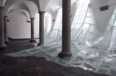 """""""Aérial"""" installation by Baptiste Debombourg at Brauweiler Abby, Cologne"""