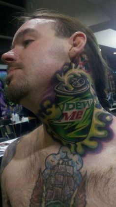 Worst Neck Tattoos: maybe they should try a turtleneck?