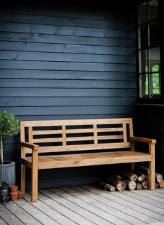 A stylish, durable Reclaimed Teak outdoor garden bench seats up to 3 people.