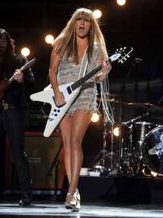 What do people think of Grace Potter? See opinions and rankings about Grace Potter across various lists and topics. Female Guitarist, Female Singers, Bass, Gibson Flying V, Grace Potter, Lzzy Hale, Best Guitar Players, Women Of Rock, Guitar Girl