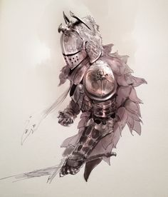 • Illustration art concept armor Knights kekai-k •