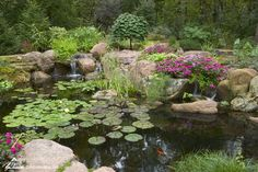 55 Best Small Yard Landscaping & Flower Garden Design - New ideas Small Yard Landscaping, Landscaping With Rocks, Landscaping Ideas, Acreage Landscaping, Backyard Water Feature, Ponds Backyard, Koi Ponds, Outdoor Fish Ponds, Backyard Waterfalls