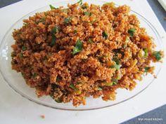 Mijn mixed kitchen: Kısır (Turkse bulgursalade)