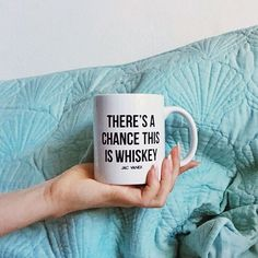 ...so you're telling me there's a chance???  The whiskey mug is up on JACVANEK.COM! Tag a friend who needs it and go get your shop on! ☕️✌️