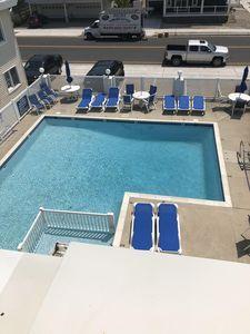 Newly Renovated 1 block to Beach 2 BA Condo w/ Heated Pool. North Wildwood, Heated Pool, Swimming Pools, Condo, Sleep, Park, Beach, Outdoor Decor, Pools