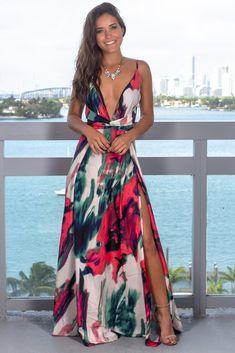 Women's Sling Floral Long Dresses arrival Summer Boho V-Neck Sleeveless Evening Party Beach Maxi Dress Casual Sundress – fashion Vestido Maxi Floral, Casual Dresses, Fashion Dresses, Long Dresses, Maxi Dresses, Floral Dresses, Dresses Art, Chiffon Dresses, Backless Dresses