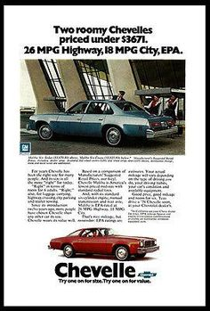 """paperink id: ads306 Chevrolet 1976 Chevelle Malibu Six Sedan or Coupe Car Photo Print Ad ORIGINAL PERIOD Magazine Advertisement. AD measures approximately 6.5"""" x 10"""" You are purchasing a paper adverti"""