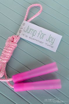 get a free printable that to put on a jump rope - give as an end of the school year gift to friends