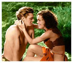 Tarzan (Johnny Weissmuller) e Jane (Maureen O'Sullivan) my favorite Tarzan
