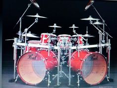 Double Bass Drum Set, Girl Drummer, Drum Heads, Drumline, How To Play Drums, Beautiful Guitars, Drum Kits, Drummers, Percussion