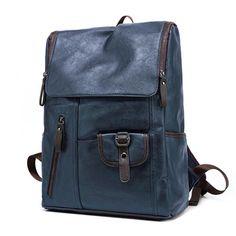 Vintage Men's Leather Backpack Shoulder Bag Briefcase Rucksack Laptop Bag is high-quality. Shop on NewChic and buy the best mens backpack for yourself. Cool Backpacks For Men, Men's Backpacks, Vintage Backpacks, School Backpacks, Backpack Bags, Fashion Backpack, Vintage Leather Backpack, Shoulder Bags For School, Backpacker