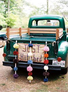 Vintage Wedding Car Decorations Ideas ❤ See more: www.weddingforwar… Vintage Wedding Car Decorations Ideas ❤ See more: www. Wedding Gifts For Bride And Groom, Bride Gifts, Our Wedding, Dream Wedding, Wedding Cars, Wedding Ideas, Wedding Stuff, Sunset Wedding, Wedding Bells