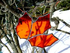 It's Maple Syrup time! Maple Leaf Stained Glass Maple Syrup Yellow by GothicGlassStudio, $13.00