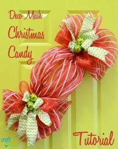 Deco Mesh Christmas Candy Tutorial by billi.schroeder