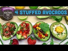 4 Stuffed Avocado Recipes! - Vegan Options! - Mind Over Munch