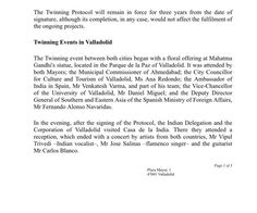 #PressNote Valladolid and Ahmedabad seal the Twinning of both cities with a Plenary Session and the signing of a Protocol.  #ValladolidAhmedabad