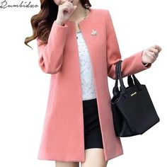 Cheap outerwear womens, Buy Quality coats yarn directly from China coat cream Suppliers: Fashion Round Neck Long Sleeve Women Coats S-XXL Solid Color Casaco Feminino Loose Cardigan 2017 Autumn Slim Thin Outerwear Winter Coats Women, Coats For Women, Jackets For Women, Clothes For Women, Ladies Coats, Coats 2018, Fashion Hashtags, Cashmere Jacket, Dressing