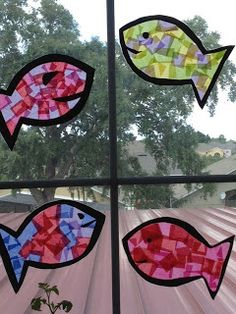 mosaic fish-cute project for M!
