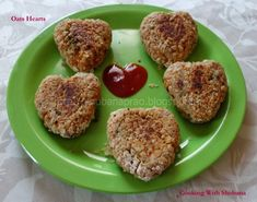 Cooking With Shobana : OATS HEARTS