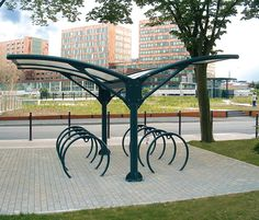 Bicycle shelters | Metalco | Alfredo Tasca. Click for details and visit the slowottawa.ca boards >> http://www.pinterest.com/slowottawa/