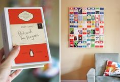 8. #Postcard Wall Art - 11 DIY Wall Decorations to Add #Personality to Your Dorm ... → DIY [ more at http://diy.allwomenstalk.com ]  #Paper #Crafts #Scrapbook #Easiest #Dry