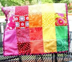 Rainbow Quilt Sewing Machine Cover | AllFreeSewing.com