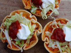 Muffin Tin Chicken Tacos: couldn't be easier & they make a great appetizer