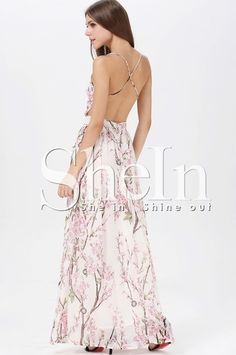 Shop Muiticolour Hibiscus Florals V-neck Spaghetti Straps Backless Maxi Dress online. SheIn offers Muiticolour Hibiscus Florals V-neck Spaghetti Straps Backless Maxi Dress & more to fit your fashionable needs.