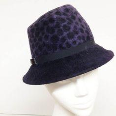 Jane Taylor fedora in purple leopard pattern. #judithm #hats