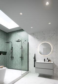 😍 Derfor får du nå blant annet Vikingbad sin nye FRØYA sort matt takdusj til kun Følg linken i vår… Bathroom Design Small, Bathroom Interior Design, Modern Bathroom, Master Bathroom, Industrial Bathroom, Upstairs Bathrooms, Dream Bathrooms, Beautiful Bathrooms, Bright Bathrooms