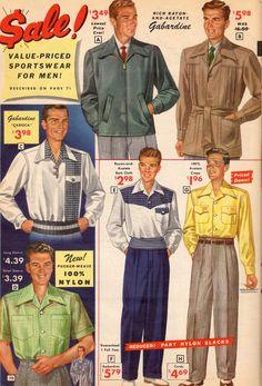 Simple & Trendy Outfits for fashion in 2017 Mens fashion fitness belly shirt celebrity, popular fashion men. Vintage Outfits, 1950s Outfits, Outfits For Teens, Trendy Outfits, Fashion Outfits, Vintage Clothing, Retro Outfits, 1950s Fashion Menswear, 80s Fashion Men