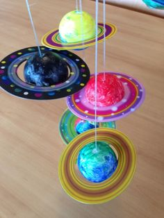 Create Your Own Solar System Mobile - Kinder - Weltraum-Party - Solar System Mobile, Solar System Crafts, Space Crafts For Kids, Craft Activities For Kids, Space Kids, Kids Crafts, Diy With Kids, Constellation Craft, Alien Crafts
