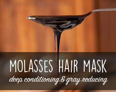 This deep conditioning molasses hair mask combines Iron and Copper rich molasses with protein packed yogurt to nourish and strengthen hair!