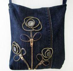Вторая жизнь джинсов в образе милых сумочек - Ярмарка Мастеров - ручная работа, handmade