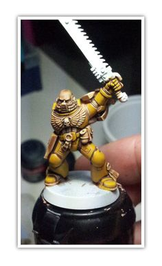 Painting space marine stubble