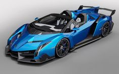 Exotic Sports Cars, Cool Sports Cars, Cool Cars, Blue Lamborghini, Lamborghini Veneno, Concept Motorcycles, Cars And Motorcycles, Veneno Roadster, Luxury Garage