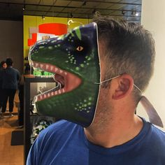 metl_mikeYou got a dinosaur on your face.