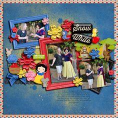 Shabby Miss Jenn Designs Snow White kit! template: Fiddle Dee Dee So Selfie