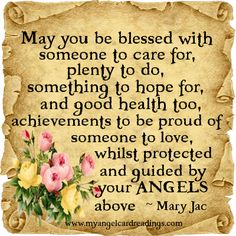May you be blessed /Inspirational Quotes - Angel Quotes - Uplifting Quotes - Angel - Angel Blessings - Angel Poems - Image Quotes - Parchment Quotes Uplifting Quotes, Inspirational Quotes, Motivational, Inspiring Sayings, Quotes Positive, Angel Quotes, Angel Sayings, Quotes Quotes, Fairy Quotes