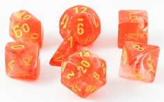 Role play your greatest adventures with Ghostly Glow Dice (Orange). This RPG dice set is perfect for Dungeons and Dragons, Pathfinder, and all games that require polyhedral dice. Includes all your fav