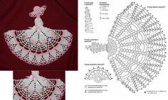 Angels Cradle: Crochet a bookmark doll Filet Crochet, Blog Crochet, Crochet Diy, Crochet Amigurumi, Crochet Girls, Crochet Diagram, Crochet Chart, Thread Crochet, Irish Crochet