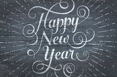 Happy New Year lettering by FoxysGraphic on @creativemarket