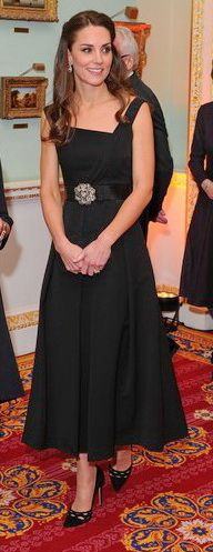 On November 22, 2016, Catherine, Duchess of Cambridge attends the Place2Be Wellbeing in Schools Awards, celebrating the ambassadors of positive mental health in schools, held at Mansion House in London, United Kingdom. The Duchess wearsPREENby Thornton Bregazzi Finella Dress.