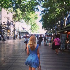 Walking down the Ramblas like it's the most normal thing in the world; that's how it feels when you live in Barcelona :)
