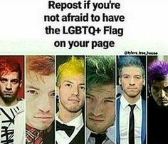 I am in the LGBTQ+ community <<< bitch I'm gay Lgbtq Flags, Emo, Lgbt Memes, Lgbt Love, Lgbt Community, My Chemical Romance, Twenty One Pilots, Gay Pride, Equality