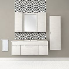 Cutler Kitchen & Bath - Textures Collection Wall Hung 48 Inch Contour White (Vanity only) - FV - Home Depot Canada Floating Bathroom Vanities, Floating Vanity, Single Bathroom Vanity, Bathroom Ideas, Single Vanities, Bathroom Storage, Master Bathroom, White Vanity, Vanity Set