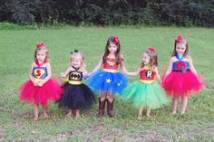 Super Hero Inspired Tutu Dress, Birthday Parties, or Dress Up Batman, Robin, Wonder woman, and Superma by shoppe3130 on Etsy