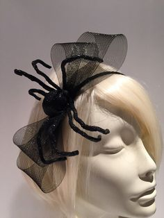 Spider headband_ Black widow bow Headband Spider by doramarra