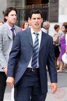 Sidney Crosby and James Neal at Fleury's wedding